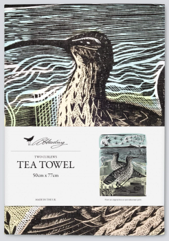 Angela Harding Two Curlews Tea Towel