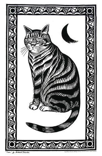 Richard Bawden Tinks the Cat Tea Towel