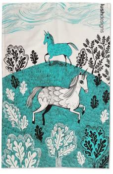 Lush Designs Unicorn Cotton Tea Towel
