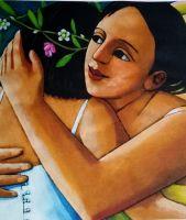 Anita Klein Hermione and Perdita Tea Towel