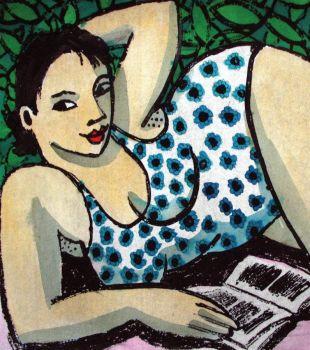 Anita Klein Microfiber Cloth, Reading by the Pool