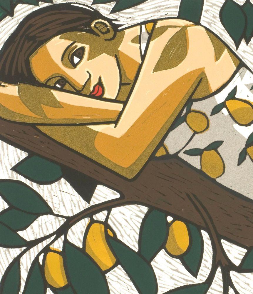 Goddess of the Pear Tree Tea Towel.