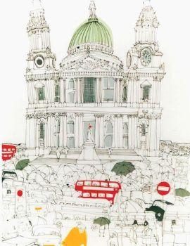 Susie Brooks Tea Towel, London Waiting