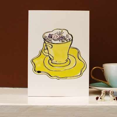 Earl Grey Tea Cup Card
