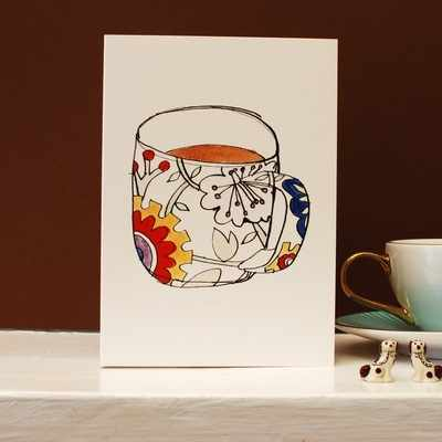 Ginger Tea Cup Card