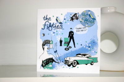 Fifties Decade Card with Badge