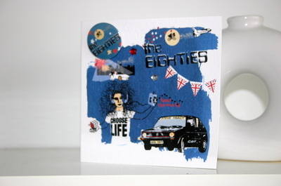 Eighties Decade Card with Badge