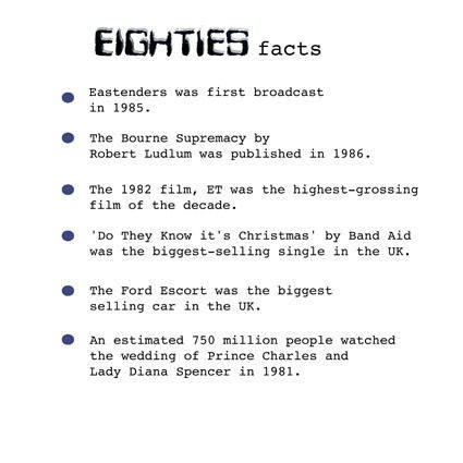 eighties facts