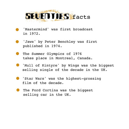 seventies facts