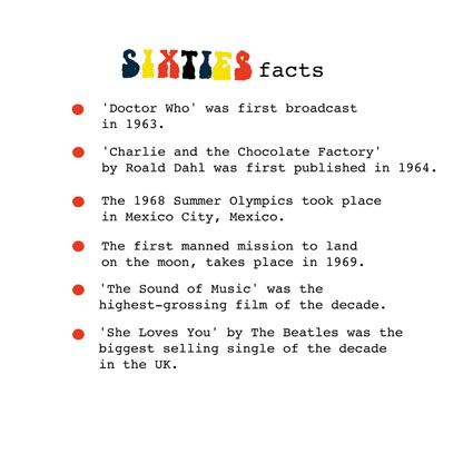 sixties facts