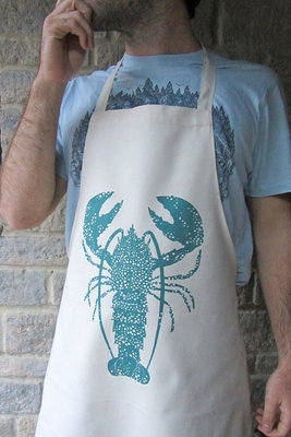 Hand Printed Lobster Apron