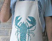 Close up lobster apron modeled