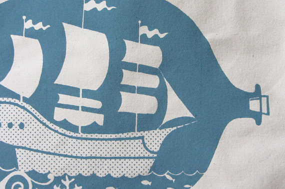 Ship bag print detail1