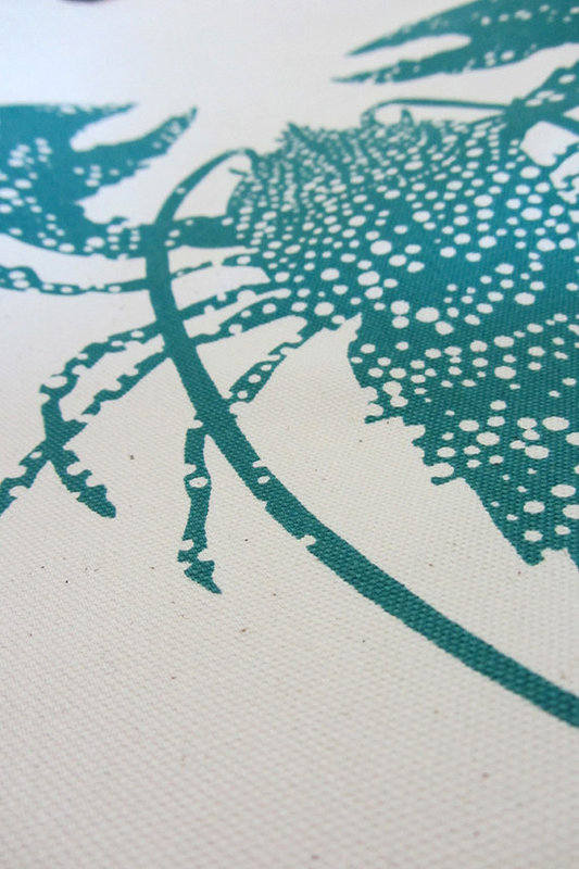 Lobster April Print Detail