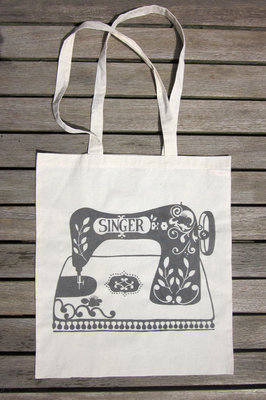 Heritage Sewing Machine Tote Bag