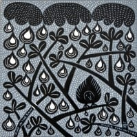 Hilke MacIntyre 'Bird in the Rain' Card
