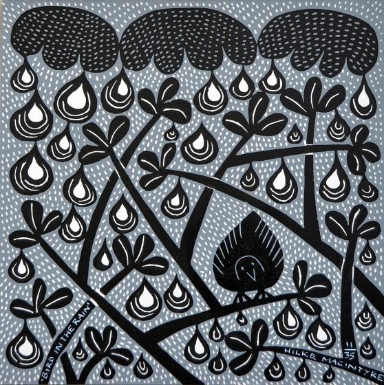 Hilke MacIntyre 'Bird in the Rain' Card