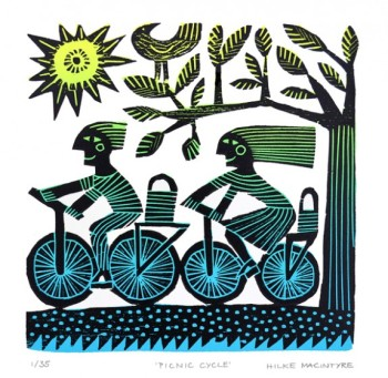 Hilke MacIntyre 'Picnic Cycle' Card