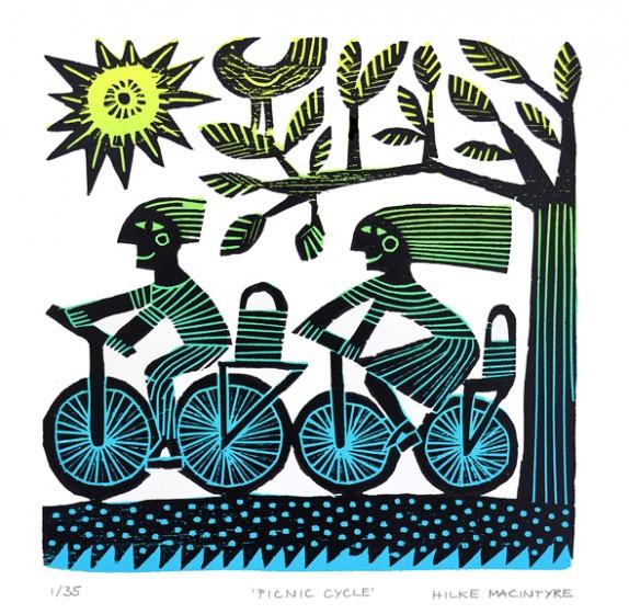 Hilke MacIntyre 'Picnic Cycle' Card