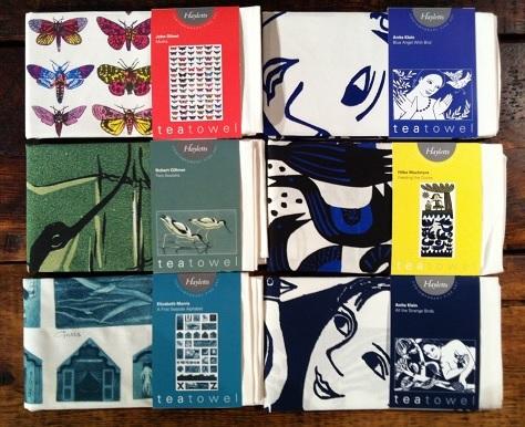Set of Siz Fine Art Tea Towels