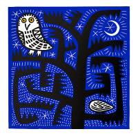 Hilke MacIntyre 'Owl at Night' Card