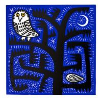 Hilke MacIntyre 'Owl at Night' Card