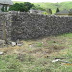 New Dry Stone wall in the Peak District.