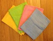 Pack of 4 Muslin squares in pretty pastel colours