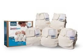 Pack of 5 Bambinex bamboo nappies