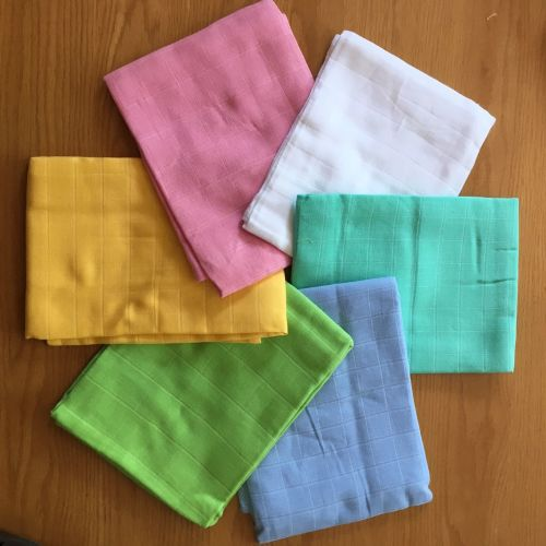 Muslin squares in pretty colours