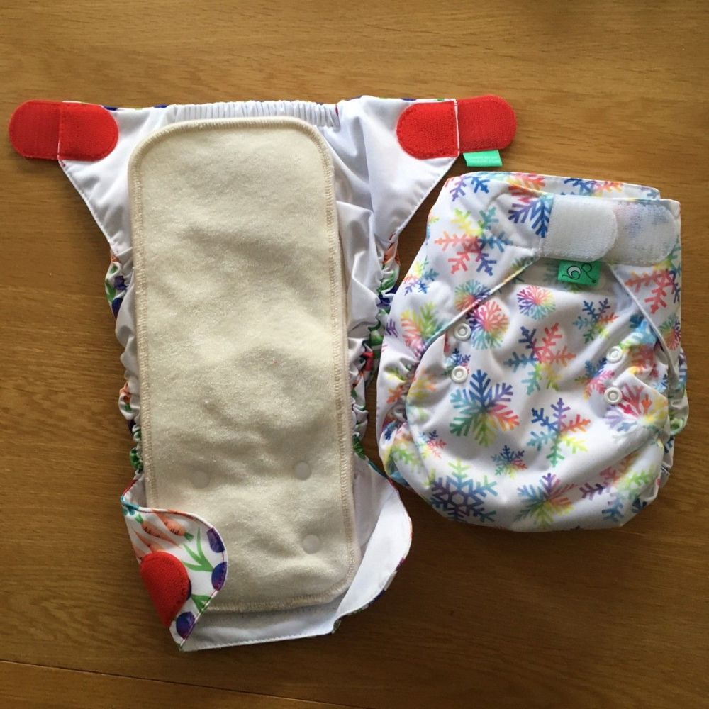 TotsBots PeeNut all-in-two nappy - twin pack with two sets of pads