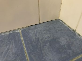 Grout missing shower base