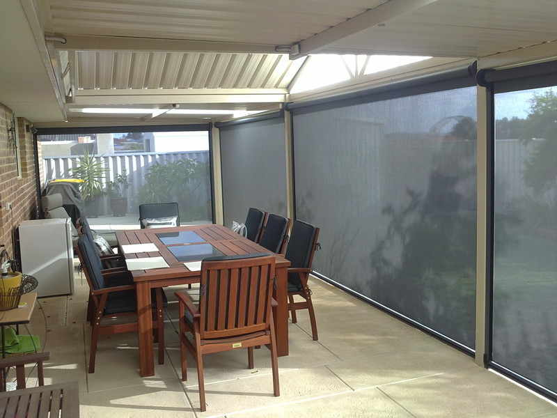 Diy fencing aluminium slat fencing perth blinds mandurah channel blinds port kennedy - Blind patio goedkope ...