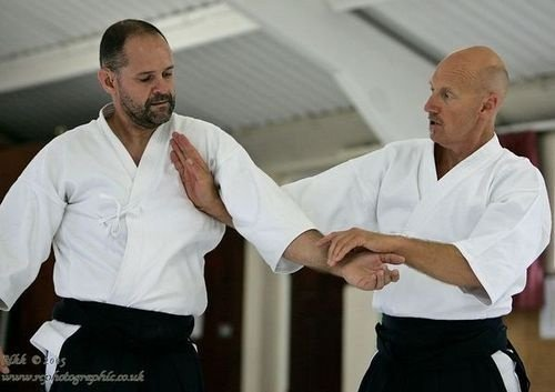 Sensei demonstrating a technique