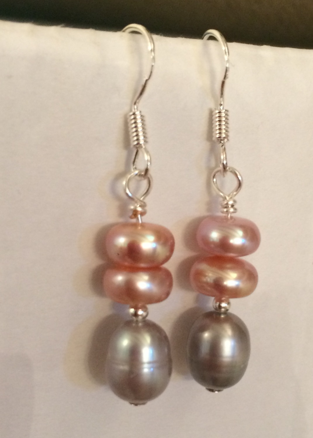 ''Pink & Silver Earrings