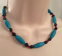 Blue & Black Necklace
