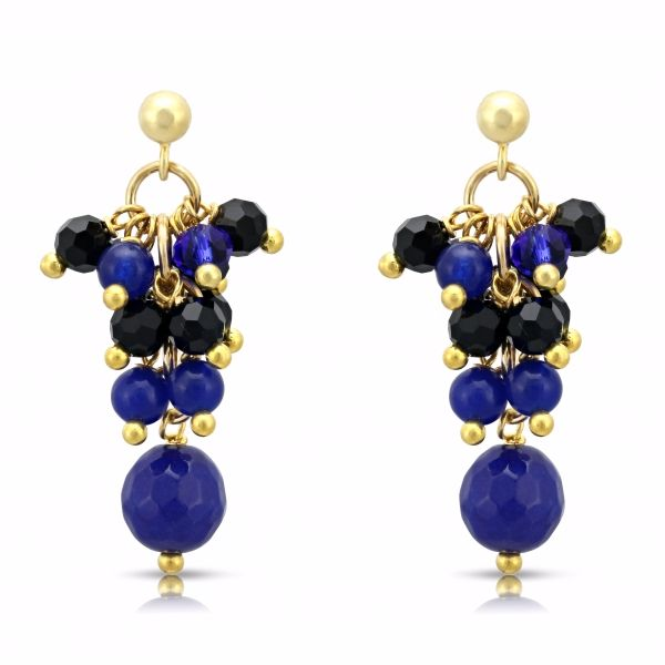 Blue & Black Earrings
