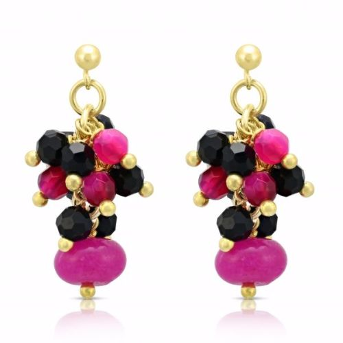 Pink & Black Earrings