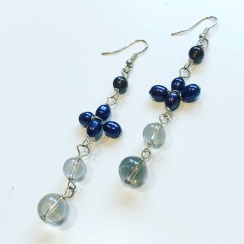 Pearl & Quartz Earrings