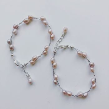 CHILD'S: Pink Pearl Bracelet