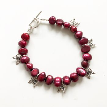 Red Pearl Bracelet