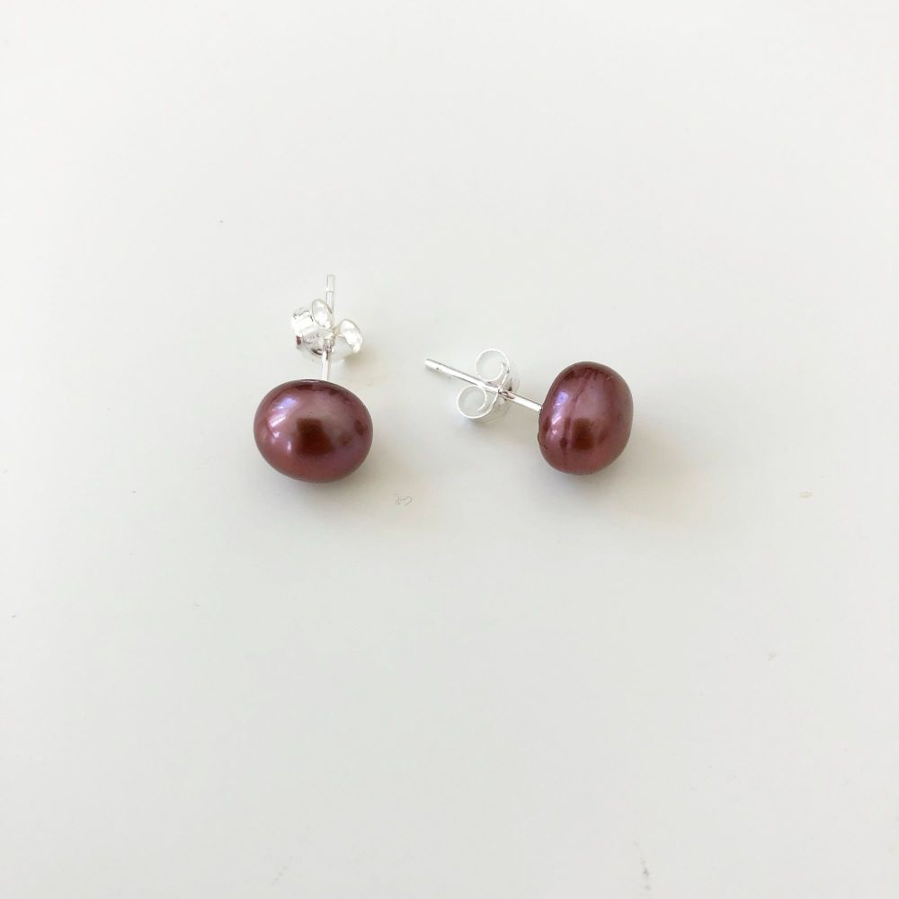 Brown Pearl Studs