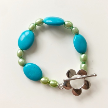 CHILD'S: Pearl & Stone Bracelet