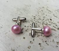 SALE Pink Pearl Cufflinks