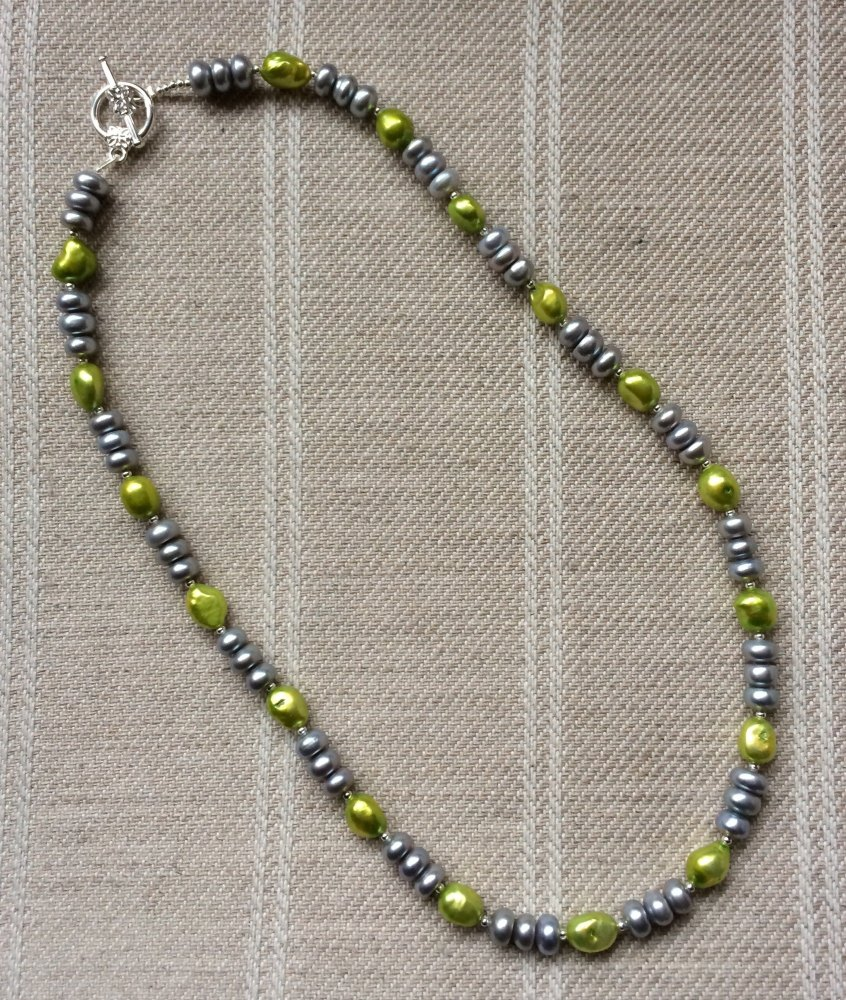 ''Lime & Silver Necklace