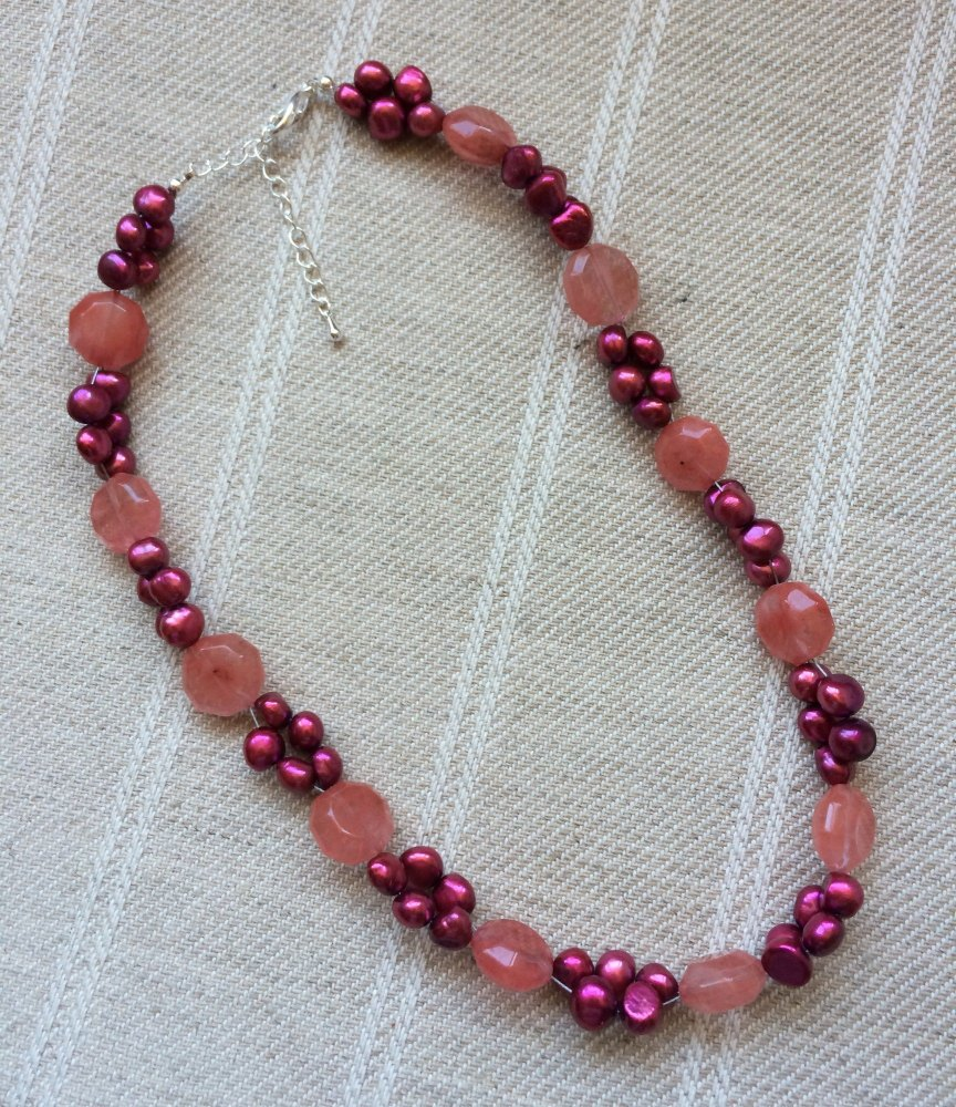 ''Quartz & Pearl Necklace