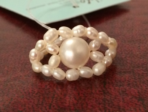 ''White Pearl Ring