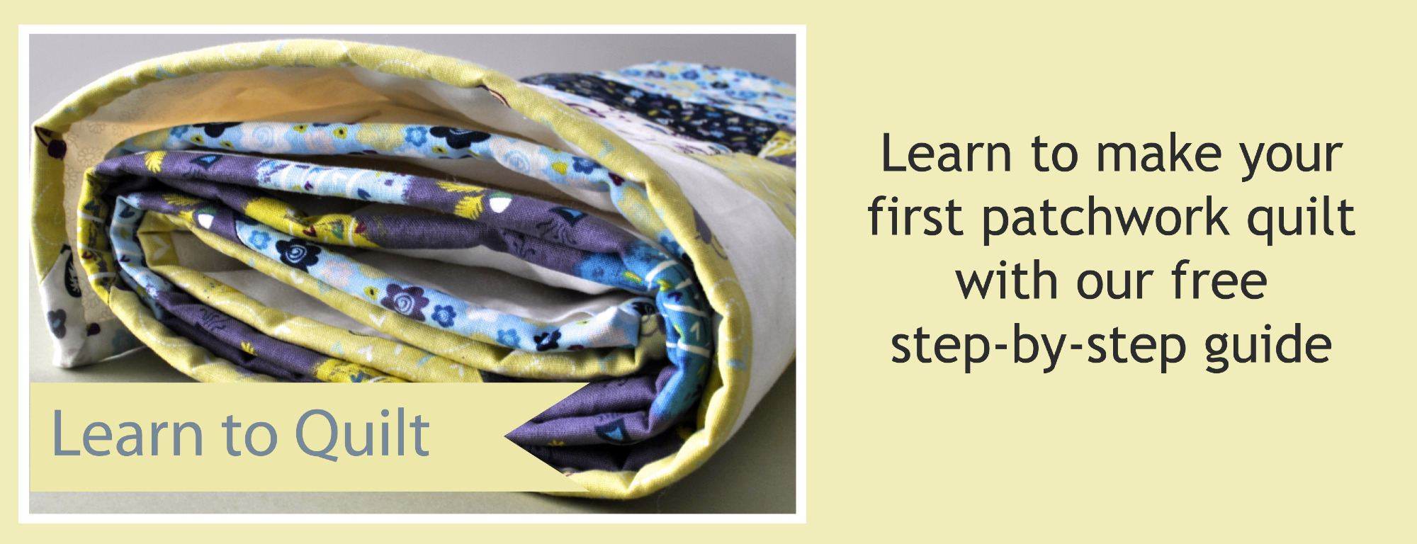 learn to quilt banner page