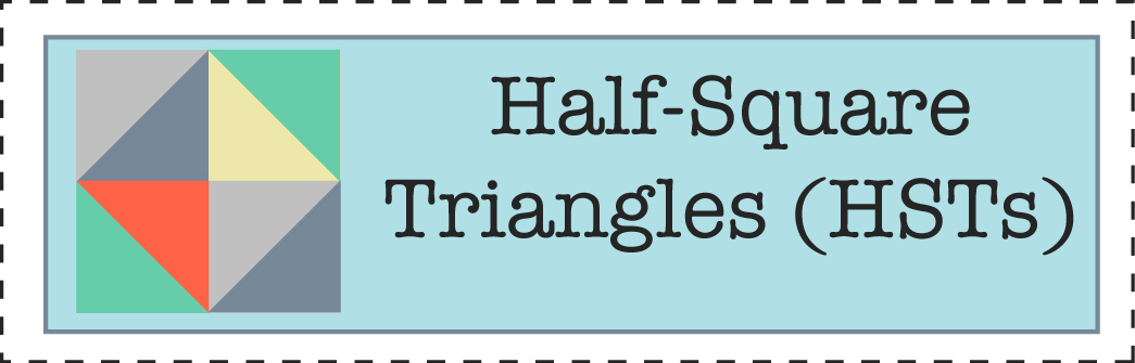 How to sew half-square triangles (HSTs)