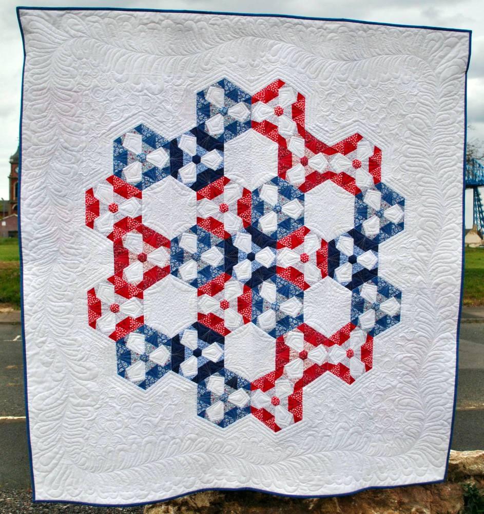 Hazy Hexies Quilt Pattern